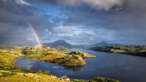 LochInchardRainbow_Scotland_1366x768